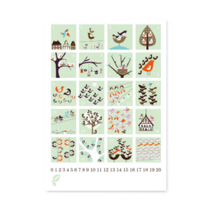 1-20 Counting Birds Poster