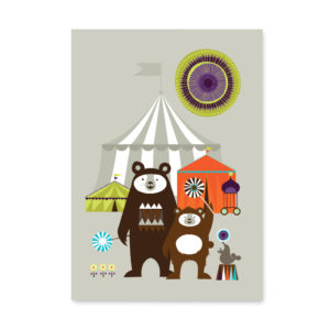 Circus Bear Print Limited Edition