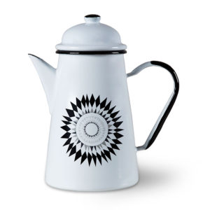 Midnattssol enamel coffee pot