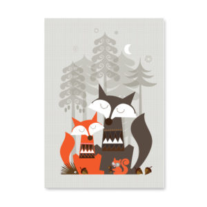 Sleeping Foxes Poster Special Edition